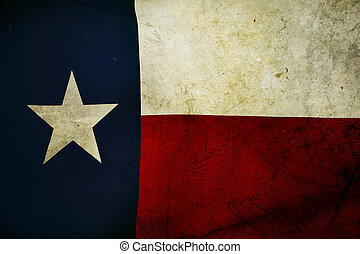 Texas flag - Closeup of grunge Texas flag