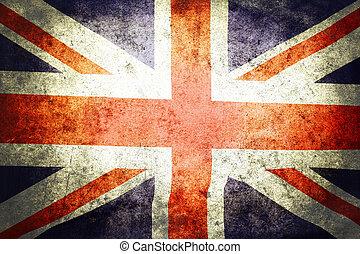 Union Jack  - Closeup of grunge Union Jack flag