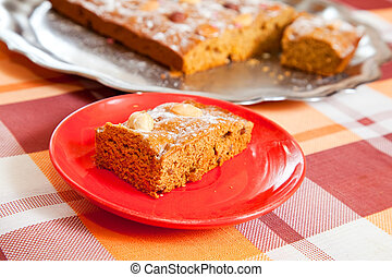homemade fresh honey cake