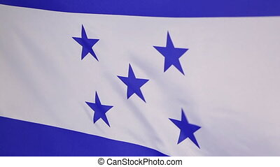 Closeup of Honduras flag in the wind