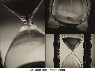 Closeup of hourglass clock