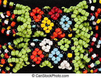 african bead - closeup of intricate traditional african ...