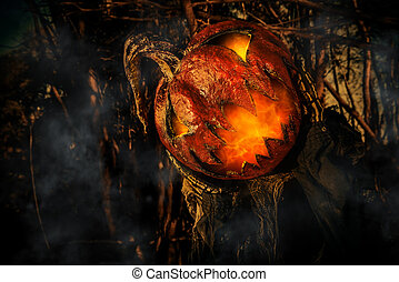 closeup of Jack-lantern
