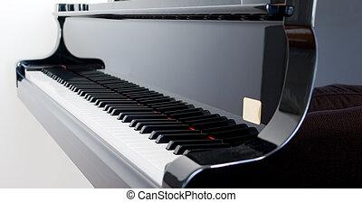 Grand Piano - Closeup of keys on a beautiful Grand Piano
