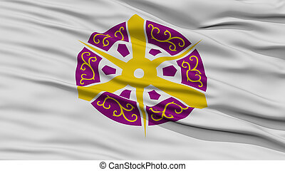 Closeup of Kyoto Flag, Capital of Japan Prefecture