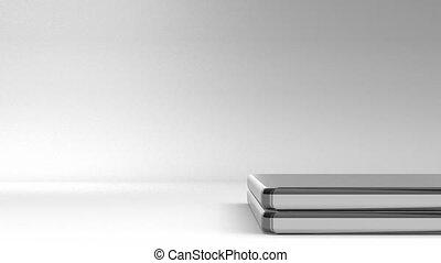 Closeup Of Laptop On White