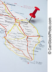 Lecce Italy On A Map