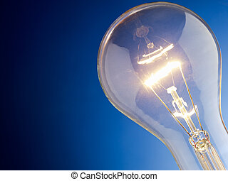 closeup of light bulb