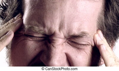 man with very strong headache