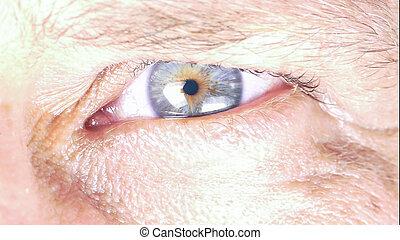 Closeup of man's eye