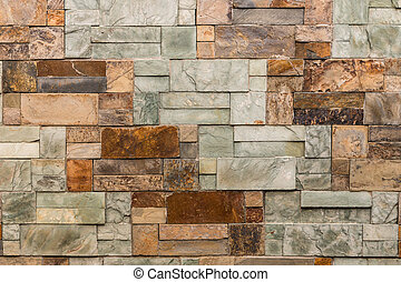 marble wall background with marble blocks