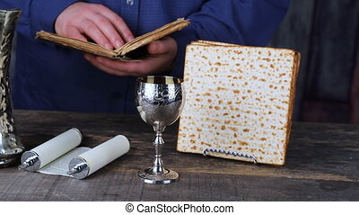 Passover Seder Plate with The seventh symbolic item used...