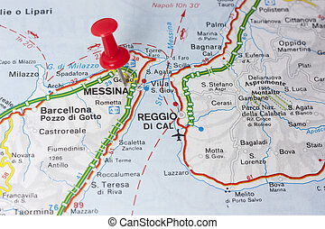 Messina Italy On A Map