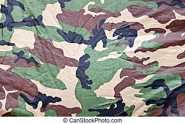 Closeup of military fabric pattern background