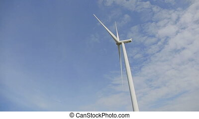 Closeup of motion clean and renewable energy, Wind Power