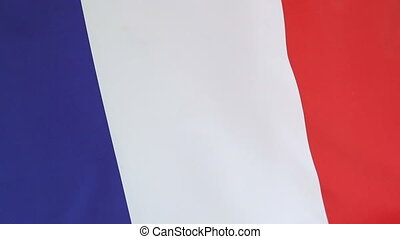 Closeup of national flag of France