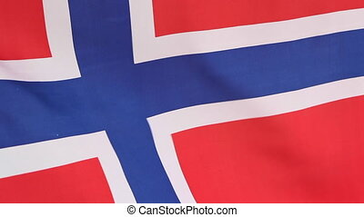 Closeup of national flag of Norway