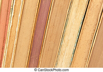 closeup of old books