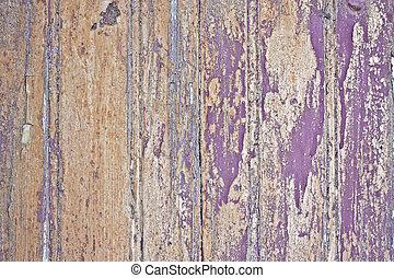 Closeup of old painted wooden door