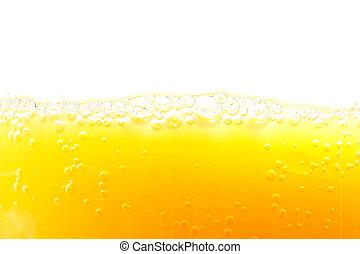 Closeup of orange juice