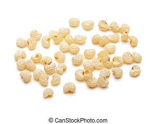 Closeup of Organic White Poppy seed