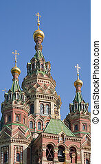 Closeup of orthodox church