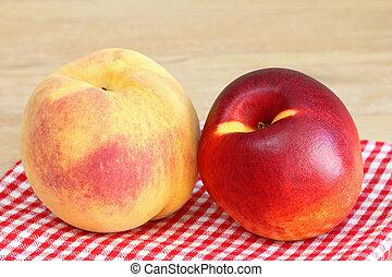 Closeup of Peach and Nectarine