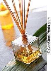 Closeup of perfumed incense sticks