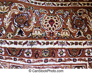Closeup of Persian carpets