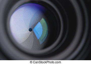 photo camera lens background