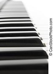 Closeup of piano
