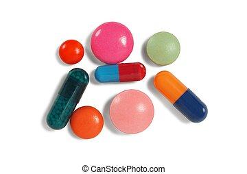 Closeup of pills