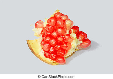closeup of pomegranate fruit pulp