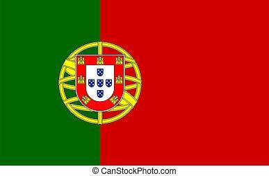 closeup of Portugal flag