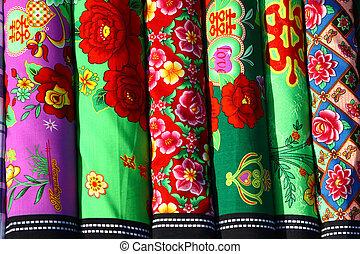 printed cloth - closeup of printed cloth