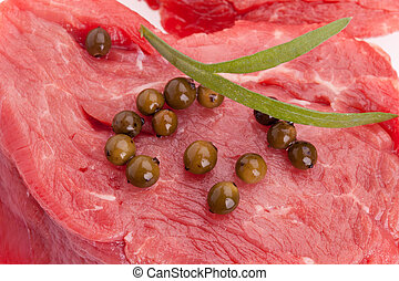 Closeup Of Raw Tenderloin