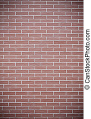 Closeup of red brick wall as background or texture