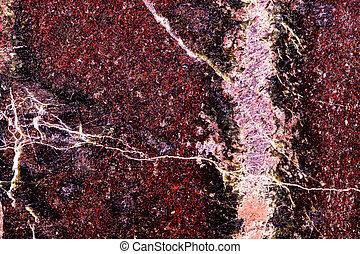 Closeup of red jasper mineral stone, pattern background