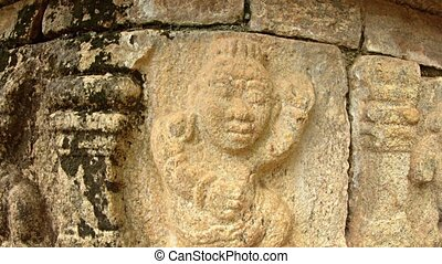 Closeup of Relief Sculpture at Ancient Palace Ruins in Polonnaruwa