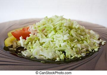 closeup of salad