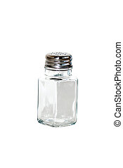 saltshaker - closeup of saltshaker isolated on white...