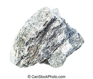 rough talchochlorite (soapstone) rock isolated - closeup of ...