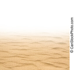 sand  - closeup of sand on a white background