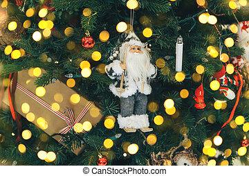 Closeup of Santa Claus Christmas toy