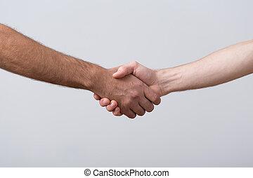 Closeup of shaking hands