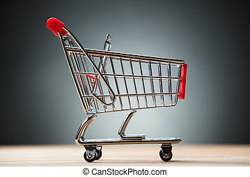 Closeup Of Shopping Cart On Table
