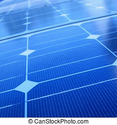 Closeup of Solar Panels - -- useful for alternative energy...