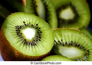 kiwi slices  - closeup of some kiwi slices