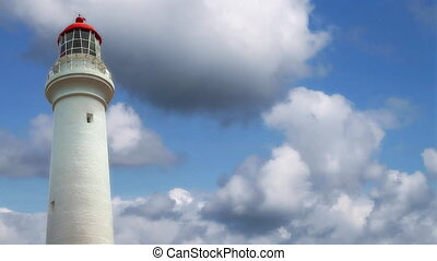 Split Point Lighthouse - Closeup of Split Point Lighthouse...