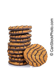 stack chocolate cookies